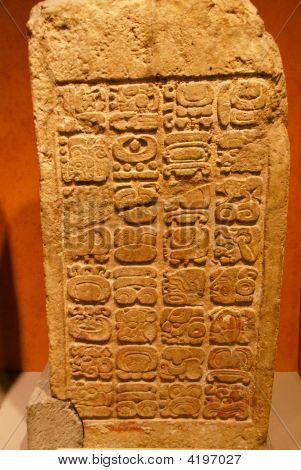 Mayan Bas-Relief Stele
