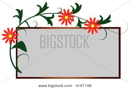 The Frame In The Form Of Floral Ornament