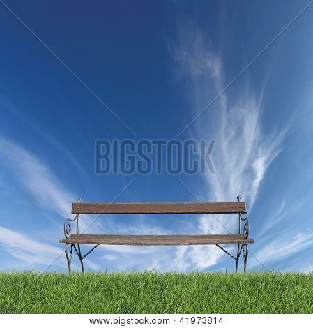 Bench On Grass