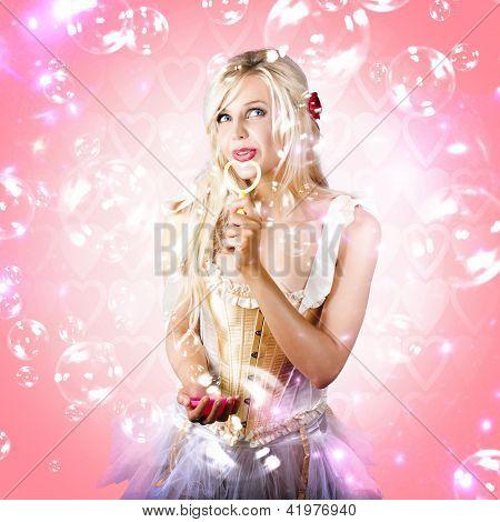 Valentine Love Concept On Pink Heart Background