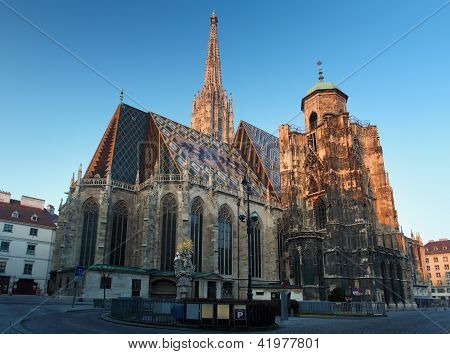 St. Stephan Cathedral In Vienna At Day, Austria