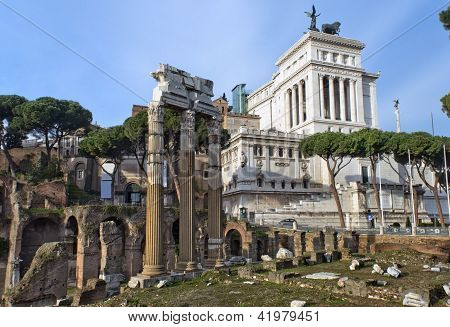Forum Romano And The Monument To Victor Emmanuel Ii, Rome