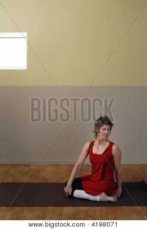 Senior In Yoga Studio