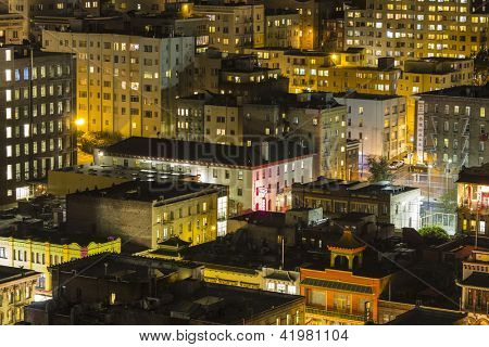 SAN FRANCISCO, CALIFORNIA - JAN 13: View of San Francisco's Chinatown tourist area.  San Francisco's 80% hotel occupancy has pushed room rates past $155 per night on Jan 13, 2013 in San Francisco, Ca.