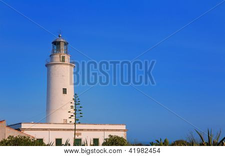 Formentera La Mola lighthouse near Ibiza at Balearic islands
