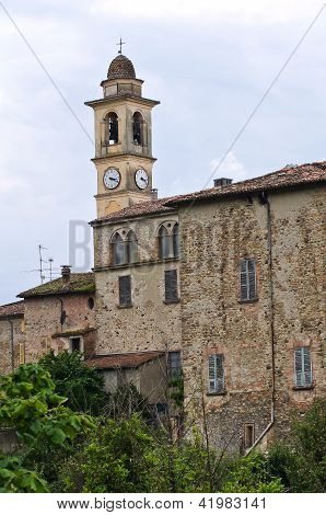 Church of St. Antonino. Travo. Emilia-Romagna. Italy.