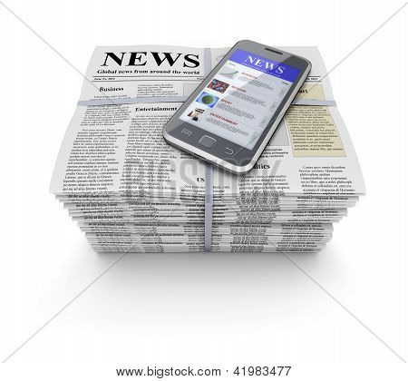 Newspapers and mobile
