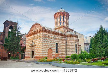 El 'Sfantul Anton Buna Vestire' (antigua iglesia de la corte) en el casco antiguo en Bucuresti, Rumania.