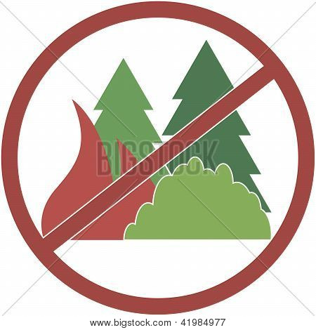 sign circular-not fuel the fires in the forest