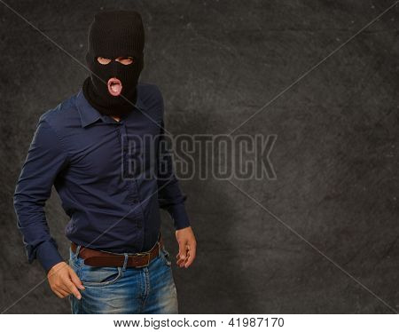 man with face mask on wallpaper