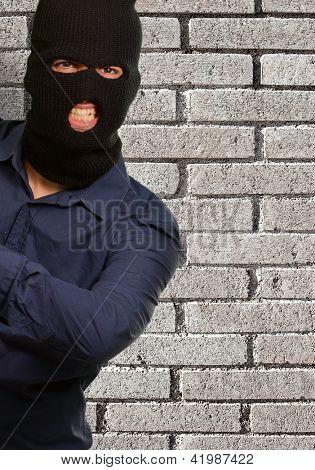 Burglar Man Shouting, Indoors