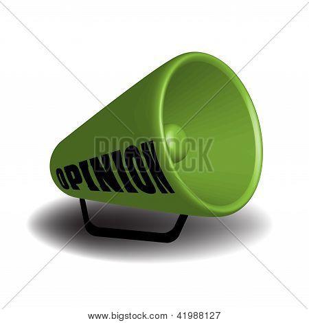 Opinion megaphone