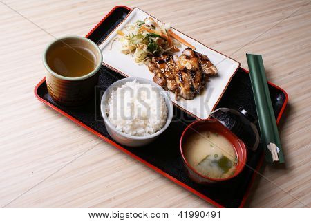 Chicken Teriyaki Set Menu