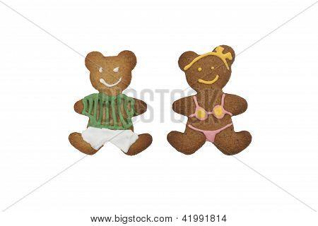 Gingerbread cookie bears