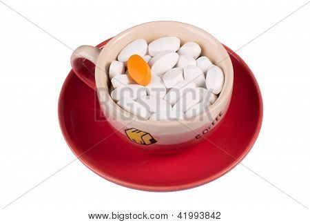 Pills In A Cup Of Coffee