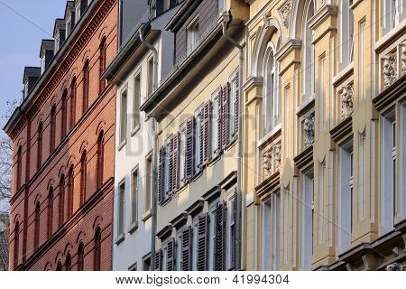Facades In The Old Town Of Wiesbaden