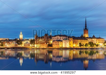 Evening summer scenery of Stockholm, Sweden