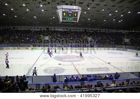 Stadium During Ice-hockey Game