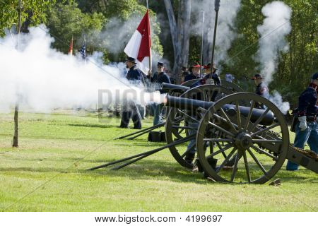 Huntington Beach Civil War Re-Enactment Union Artillery