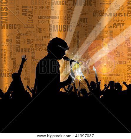 Concert. Dancing people