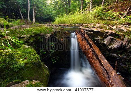 Union River Gorge Waterfall Michigan