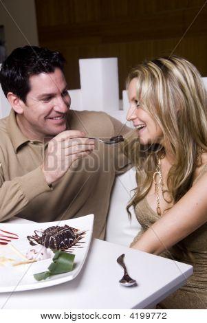 Young couple enjoying evening date