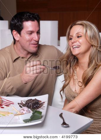 Young couple enjoying evening date
