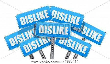 Dislike Social Media Networking Concept