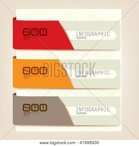 Set of Infographic elements.  Design template. Vector illustration