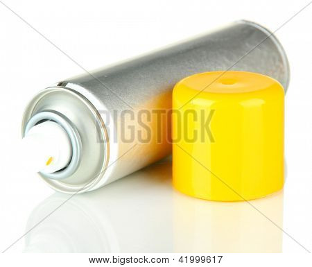 Aerosol paint spray, isolated on white