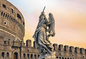 stock photo of blue angels  - Angel on guard of Rome - JPG