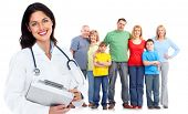 stock photo of pharmaceuticals  - Family doctor woman - JPG