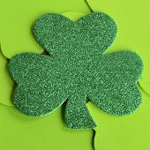 Green Sparkle Shamrock