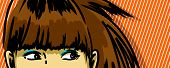 pic of peeking  - woman peeking out vector drawing - JPG