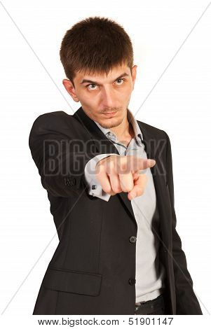 Angry Business Man Pointing You