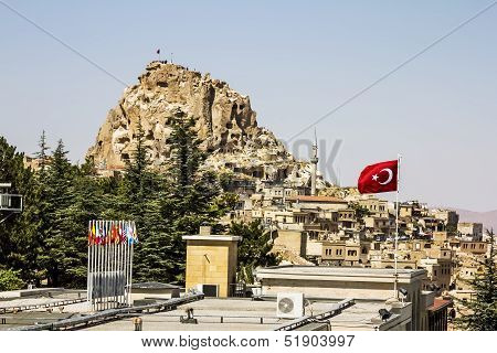 Uchisar Castle,cave, City, Capapdocia