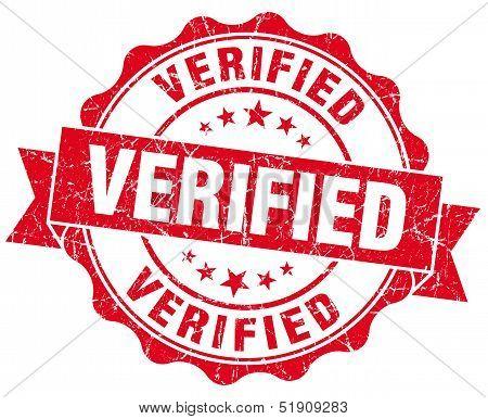 Verified Grunge Stamp