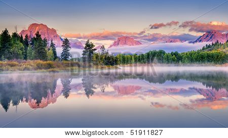 Early Autumn Sunrise At Oxbow Bend