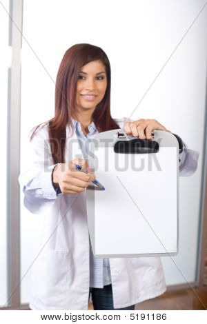 Female Doctor Isolated On White