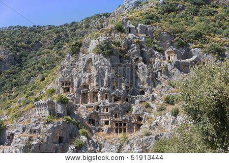 Lycian Rock Tombs, Myra, Turkey