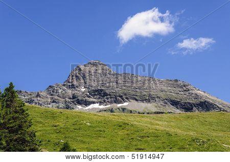 Cuneaz (Aosta Valley) Mount Testa Grigia In Summer