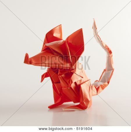 Front View Origami Mouse