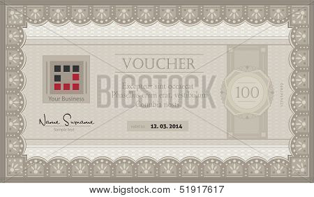 vector Voucher coupon paper template