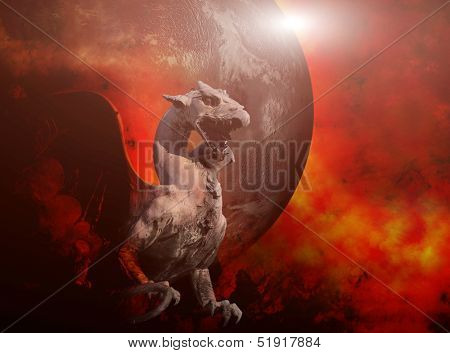 A molten roch dragon