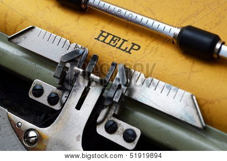 Help Text On Typewriter