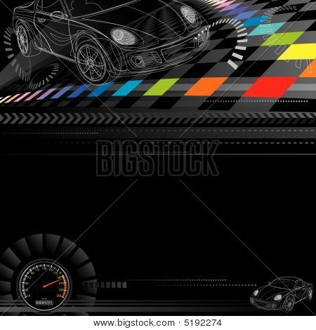 Background Auto Racing on Racing Background Stock Vector   5192274   Bigstock