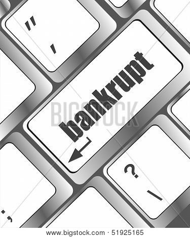 A Keyboard With Key Reading Bankrupt