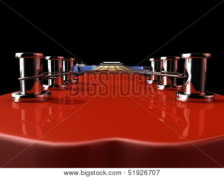 Red E-guitar