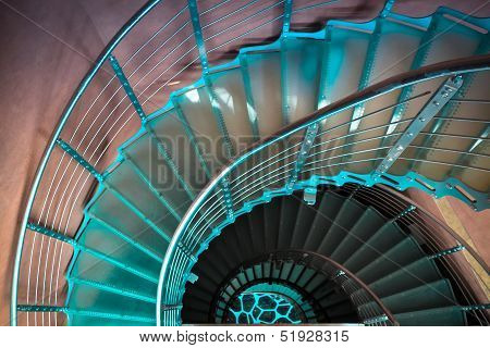 Downward Spiraling Staircase