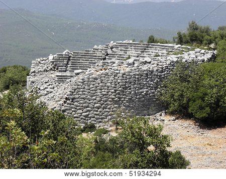Rare construction of an amphitheater.
